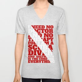 Scuba divers need no therapy typographic art Unisex V-Neck