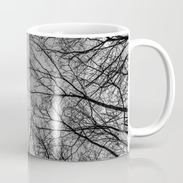Flying branches, black and white Coffee Mug