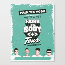 Walk The Moon 2016 Canvas Print