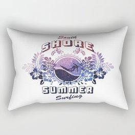 South Shore Summer Surfing Rectangular Pillow