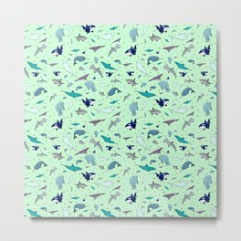 Sea Animals Metal Print