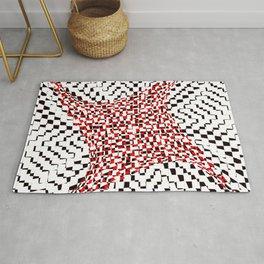 black white red 2 Rug