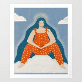 Archangel of cute jumpsuits Art Print