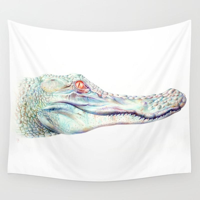 Albino Alligator Wall Tapestry by Brandonkeehner TPS4311143