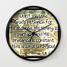 Scriptures and Pictures 01 Wall Clock