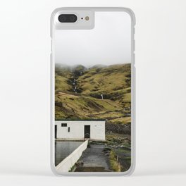 Seljavallalaug Hot Springs Clear iPhone Case