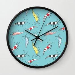 Aquarium Shrimp Pattern Wall Clock