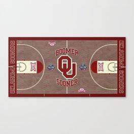 Oklahoma #Sooner #FinalFour design. Canvas Print