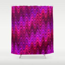 WAVY #2 (Purples, Fuchsias, Violets & Magentas) Shower Curtain