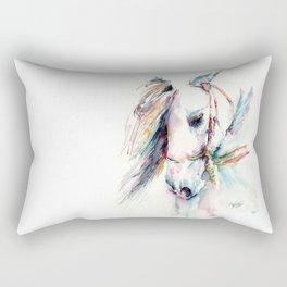 Fantasy white horse Rectangular Pillow