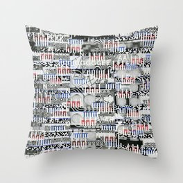 Stealing Actualized Icons (P/D3 Glitch Collage Studies) Throw Pillow