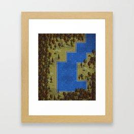 Pixel Forest Framed Art Print
