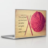 scripture Laptop & iPad Skins featuring Psalm 139 Baby Scripture by KimberosePhotography