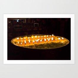 Tibet: Ritual butter lamp Art Print