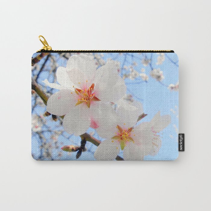 plum tree blossoms closeup Carry-All Pouch