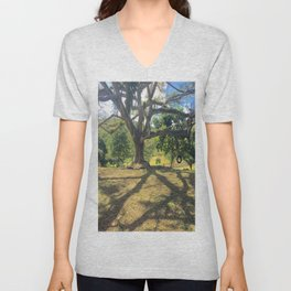 Tire Swing in a Tropical Place Unisex V-Neck