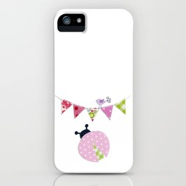 Ladybug with party flags iPhone Case