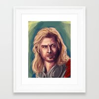 thor Framed Art Prints featuring Thor by pandatails