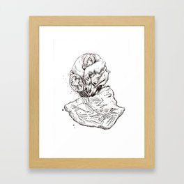 origin of the species Framed Art Print