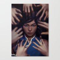 the legend of korra Canvas Prints featuring Korra by Meder Taab