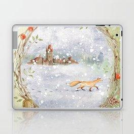 Christmas vintage fox Laptop & iPad Skin