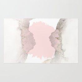 Pale Pink on Mountains Rug