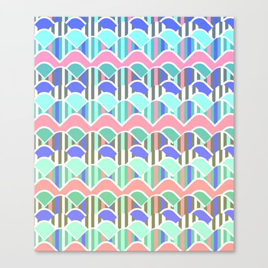 Colorful waves- upside down Canvas Print