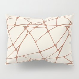 Cavern Clay SW 7701 Abstract Mosaic Pattern 1 on Creamy Off White SW7012 Pillow Sham