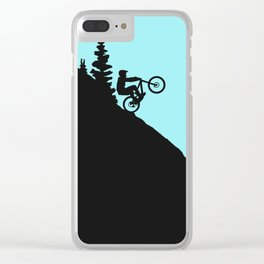 MTB Downhill Clear iPhone Case