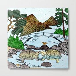 Love of a Turtle River Metal Print