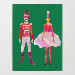Nutcracker Ballet - Candy Cane Green Poster