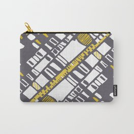 Diagonal layers yellow Carry-All Pouch