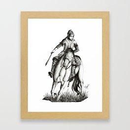 Scythian warrior Framed Art Print