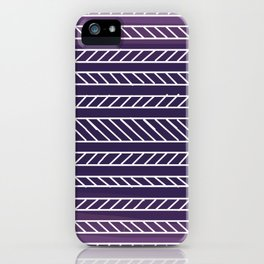 Purple Grid Art iPhone Case