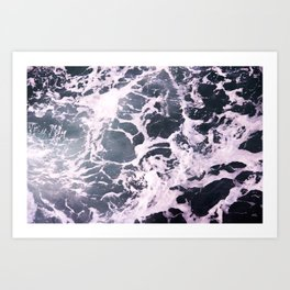 Marbled Waves Art Print