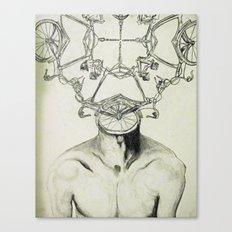 Bike Man Canvas Print