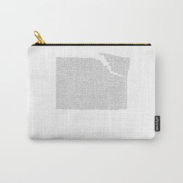 Erosion & Typography 2 Carry-All Pouch