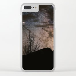 Night sky with stars, endless galaxy. Clear iPhone Case
