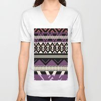 navajo V-neck T-shirts featuring navajo blanket by littlehomesteadco