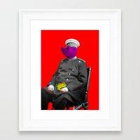 general Framed Art Prints featuring General Schweinebacke by Marko Köppe
