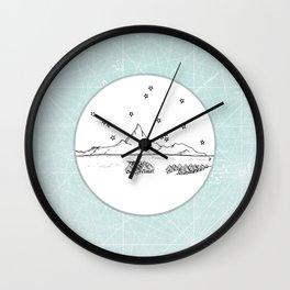 Bora Bora Island, French Polynesia Skyline Illustration Drawing Wall Clock