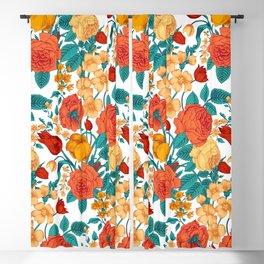 Vintage flower garden Blackout Curtain