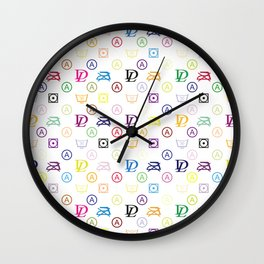 Dirty Laundry - in a Louis-V-Style - Living Hell Wall Clock
