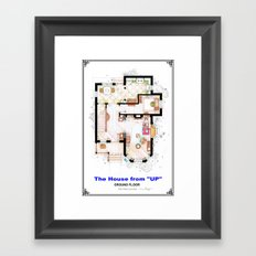 The House from UP - Ground Floor Floorplan Framed Art Print