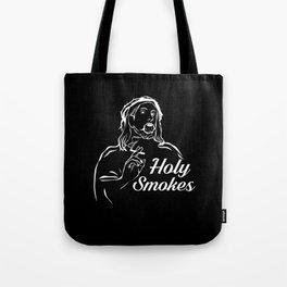 Holy smokes Shirt I Jesus religion bible church Tote Bag