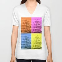 popart V-neck T-shirts featuring Autum popart by healinglove by Healinglove art products