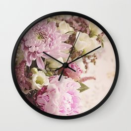 Heavenly Pink flowers Wall Clock