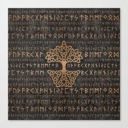 Elder Futhark Pattern and Tree of life Canvas Print