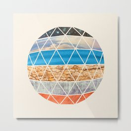 Eco Geodesic  Metal Print