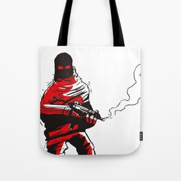 Death wears a track suit Tote Bag